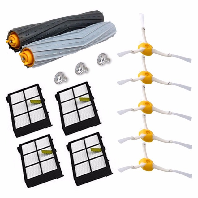 14Pcs/Lot Tangle-Free Debris Extractor Replacement Kit iRobot Roomba 800 900 series 870 880 980 Vacuum Robots accessory parts