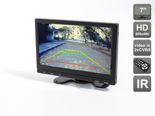 Car 7″ HD (800×480)  Monitor with IR transmitter for on-dash or build-in installation, AVIS Electronics AVS0705BM