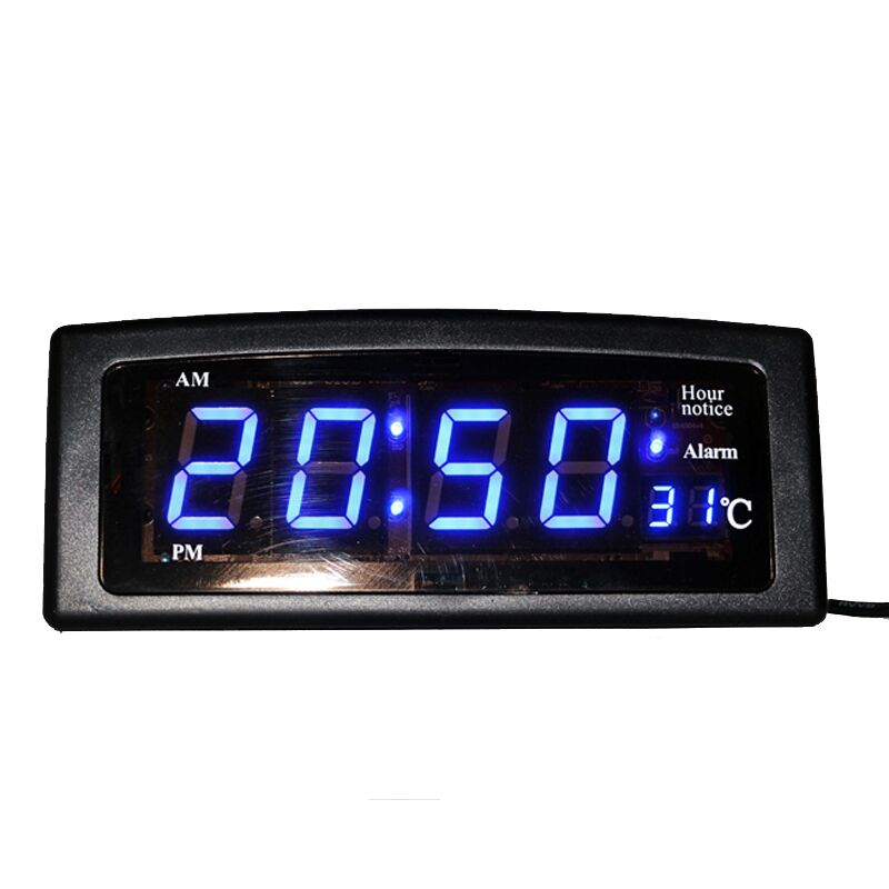 Desktop Digital LED Electronic Alarm Clock with Temperature Display 1.8'' Big Digits Easy to Read for Home Office Decorative