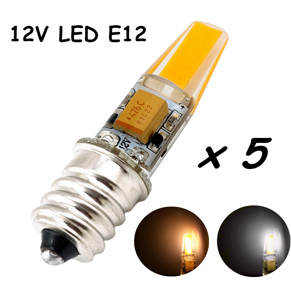 Us 22 21 12v E12 Led Light Bulb 2 Watt 200lm Omnidirectional Candelabra Base Lamp Mini Silicone Lights In Bulbs S
