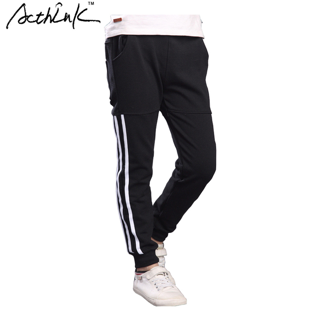 3dd18e89b1d ActhInK New Boys Striped Sports Pant Fashion Teenager Children Full Length  Jogging Pant Boys Spring Summer Track Trousers