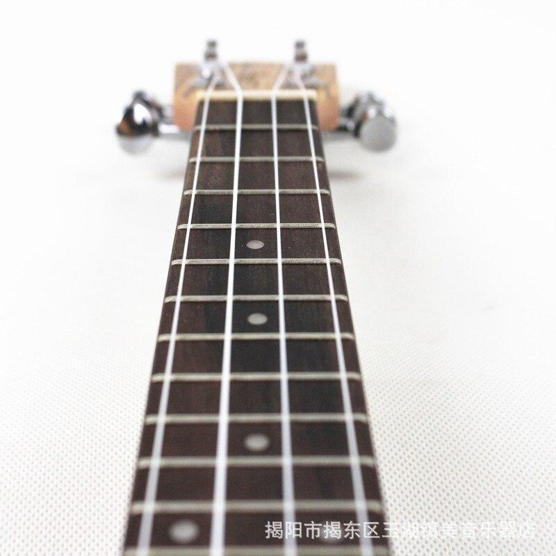 Ukelele Soprano Concert ténor acoustique électrique ukulélé 21 23 26 pouces Picea Asperata zèbre bois Mini guitare Guitarra Plug-in Uke - 6
