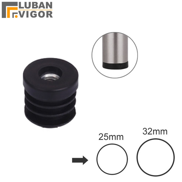 Pipe/tube plug with inner nuts for outer diameter 25mm 32mm Stainless steel tube pipe