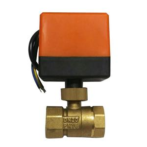 Image 4 - Electric Ball Valve AC220V DN15 50 3 wire 2 way Control Brass Thread Electric Ball Valve stable Motorized Ball Valve