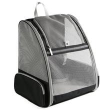 Cat Portable Breathable Cats Foldable Ventilated Mesh Shoulder Bag Pet Backpack Dog Transparent