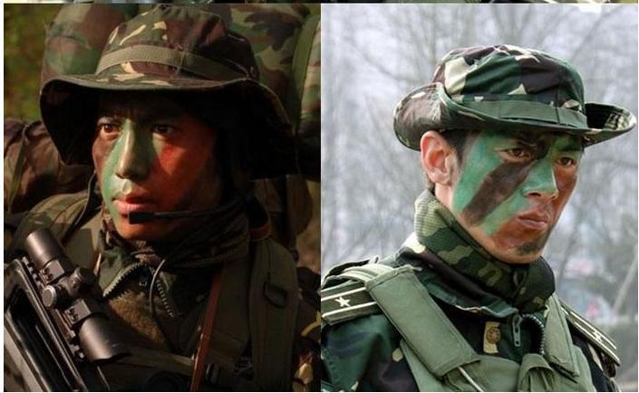 Forces spéciales 4 couleur militaire camouflage dessin de camouflage  maquillage visage peinture à l\u0027huile pour plein air cs couleur dessin dans  Peinture