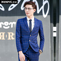 Brands BONSPOL men's suits grid leisure suit men career suits best dress Luxury Men Suit Jacket  Wedding Party Jacket Blazer