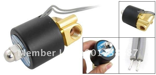 5 шт. 2,5 мм Диаметр два способа двойной позиции 1/4 дюймовый электромагнитный клапан 2W-025-08 AC220V
