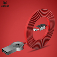 Baseus Zinc Alloy USB Cable For iPhone 7 6 6s Plus SE 5S 5 iPad Air IOS 10 9 Fast Charging Data Sync Charger Cable