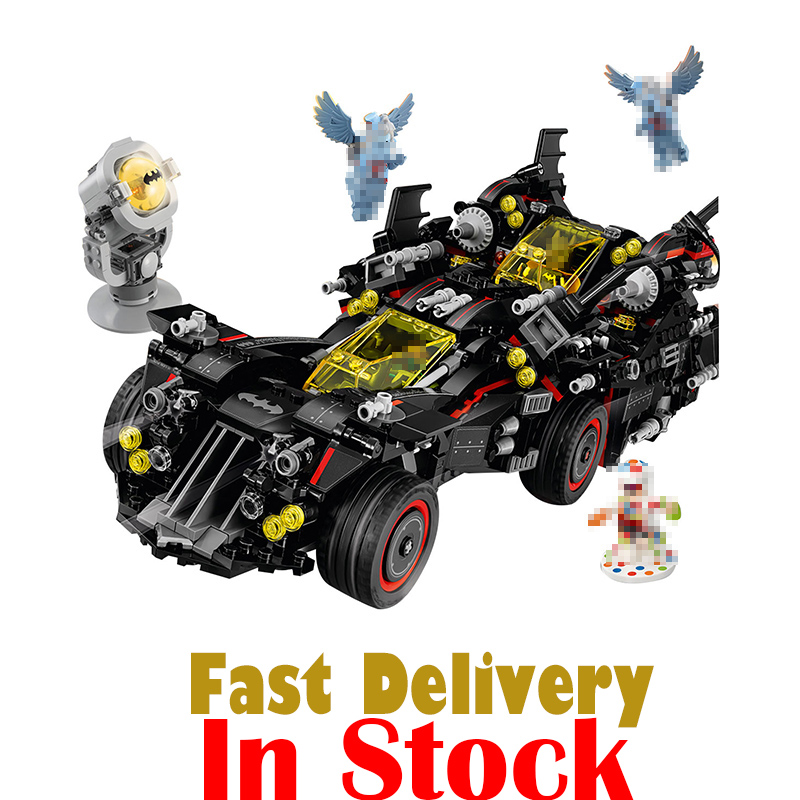 Lepin 07077 DC The Ultimate Batmobile Marvel Super Heroes Batman Building Blocks Bricks Toys For Boys Compatible legoINGly 70917 lepin 07056 775pcs super heroes movie blocks the scuttler toys for children building blocks compatible legoe batman 70908