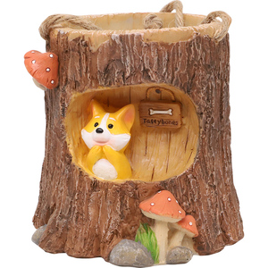 Image 5 - Maceta colgante de madera Roogo, maceta colgante para Balcón de animales, plantas suculentas maceta para, maceta creativa para flores