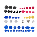 Super PDR Tools - Brand New 52pcs PDR Glue Tabs Work with Glue Puller Slide Hammer  - Car Dent Repair Tools Set Dent removal