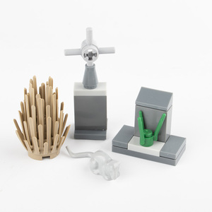 Image 5 - MOC Building Blocks Street Light Graveyard Accessory City Parts Bricks Cemetery Animal Snake Bat Grass Rose Plant Halloween D033