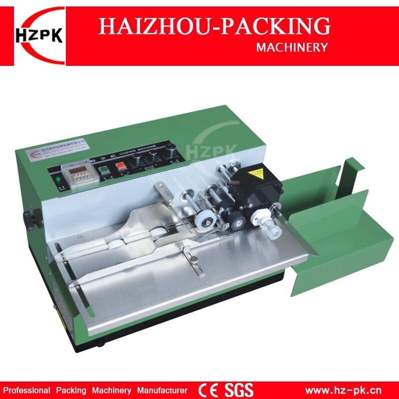 HZPK Твердые чернила Дата код печатная машина стол Тип кодирования машина гладить Shell упаковочная машина для Еда Сумка Поле Дата пакет MY-380F