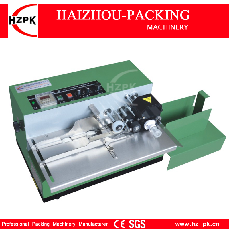 HZPK Solid Ink Date Code Printing Machine Desk Type Coding Machine Iron Shell Packing Machine For Food Bag Box Date Pack MY-380F zonesun my 380 ink roll coding machine card printer produce date printing machine solid ink code printer painting type 220v