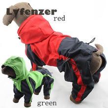 Товары для домашних животных Водонепроницаемый полиуретановый зеленый красный собачий дождевик