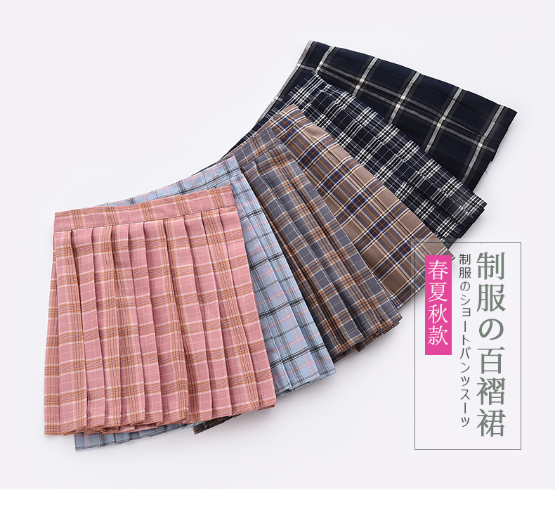 2019 Women Summer high waist pleated plaid skirt Female Anime Short Skirts plisowana spodnica saia curta jupe plissee femme