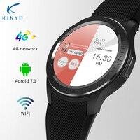 Smartwatch android 7,1 MT6739 1 Гб + 16 1,3 дюймов 4 г для мужчин Смарт часы с wi fi gps сердечного ритма шагомер Google play географические карты pk zeblaze