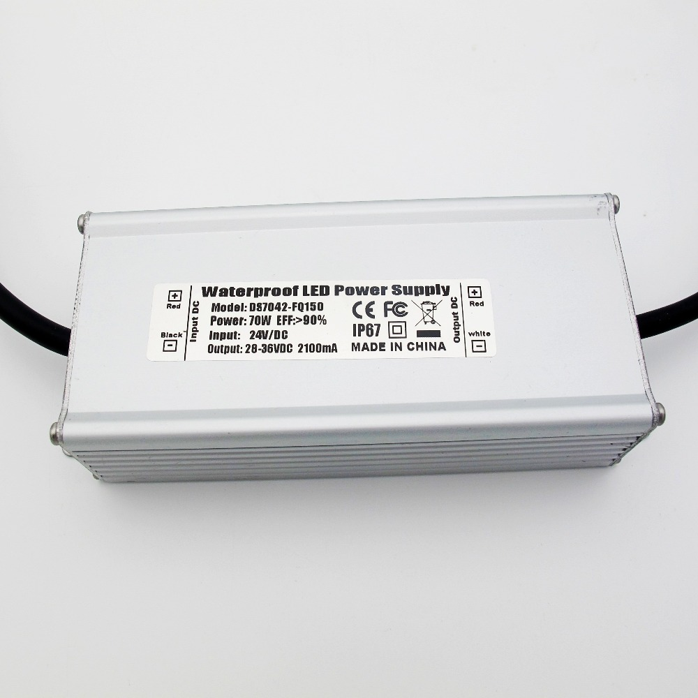 Jiaderui Waterproof DC 24V - 28V to DC Constant Current LED Driver 70W Low Voltage Power Adapter kvp 24200 td 24v 200w triac dimmable constant voltage led driver ac90 130v ac170 265v input