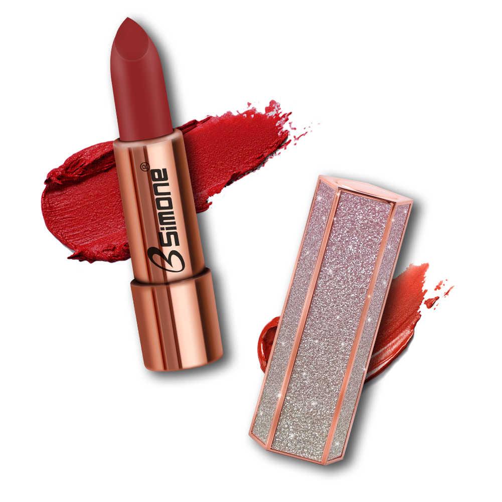 1pcヌード防水口紅マットパンプキンカラー口紅ビタミンe保湿耐水性profissional口紅TSLM1