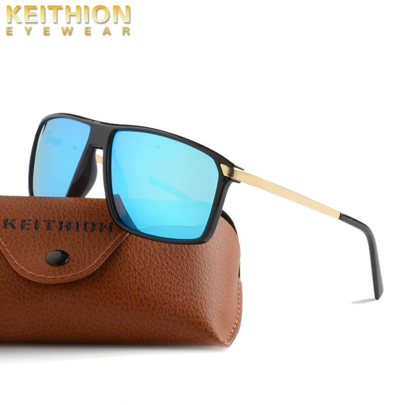 Keithion Marke Polarisierte Sonnenbrille Männer Männlich Platz Rahmen Gespiegelte Sonnenbrille Fahren Mode Reise Brillen Uv400 Sonnenbrillen Bekleidung Zubehör