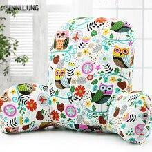 Фотография Lumbar Pillow Cotton And Linen PP Foam Seat Cushion Back Pillow  For Car Travel Office Home Tournure Back Waist Support