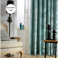 Textile Curtains Drapes Fabric Lotus Blackout Chinese Embroidered Cortinas French Window Treatment For Living Room Luxury
