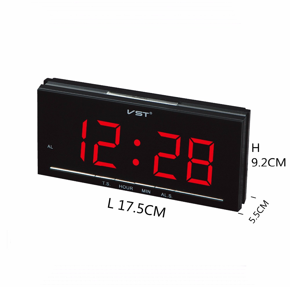 Newly Home Decor Alarm Clock Night Light Function Metal Double Bell Silent Movement Bedside