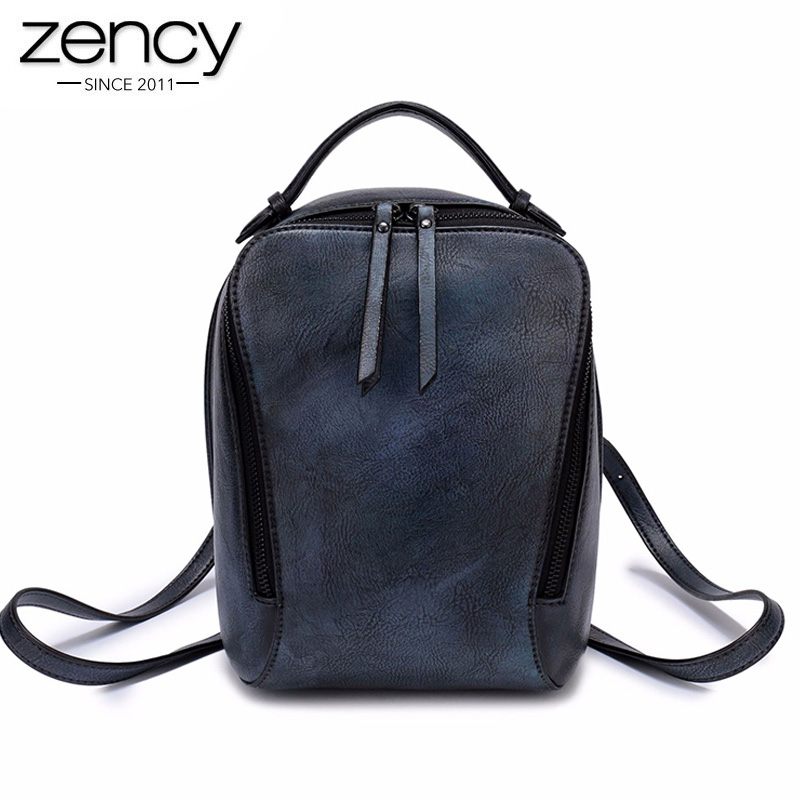 Women Vintage Backpack New Arrival in Spring Female Shoulder bags with zipper Solid lady classic travel ipad packs elegant purse spring new elegant leather women handbag smooth skin lady shoulder bags female small casual totes cover zipper crossbody packs