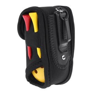 Mini Golf Ball Tee Holder Portable Storage Box Bag SBR Neoprene Waist Pack with 4 Tees 2 Golf Balls