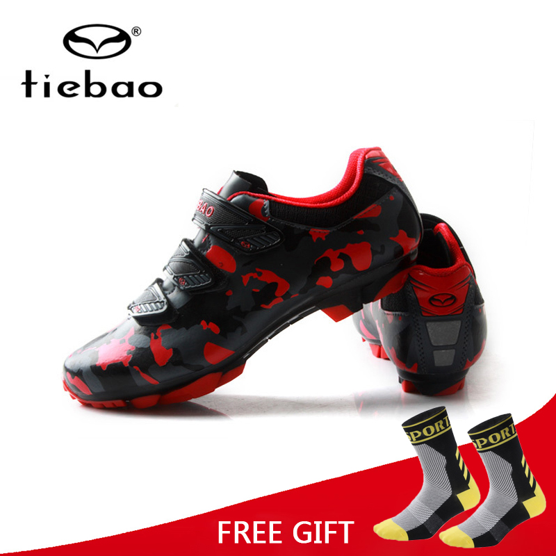 Tiebao New Cycling Shoes MTB Bike Self-Locking Shoes Racing Athletic Bicycle Sneakers Sapatilha Ciclismo Zapatillas Size 39-47 tiebao tiebao b1285 recreational cycling shoes black green size 42
