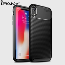 IPAKY For Iphone X XS Max XR Original Silicone Case Luxury Shockproof TPU Protective for Capa