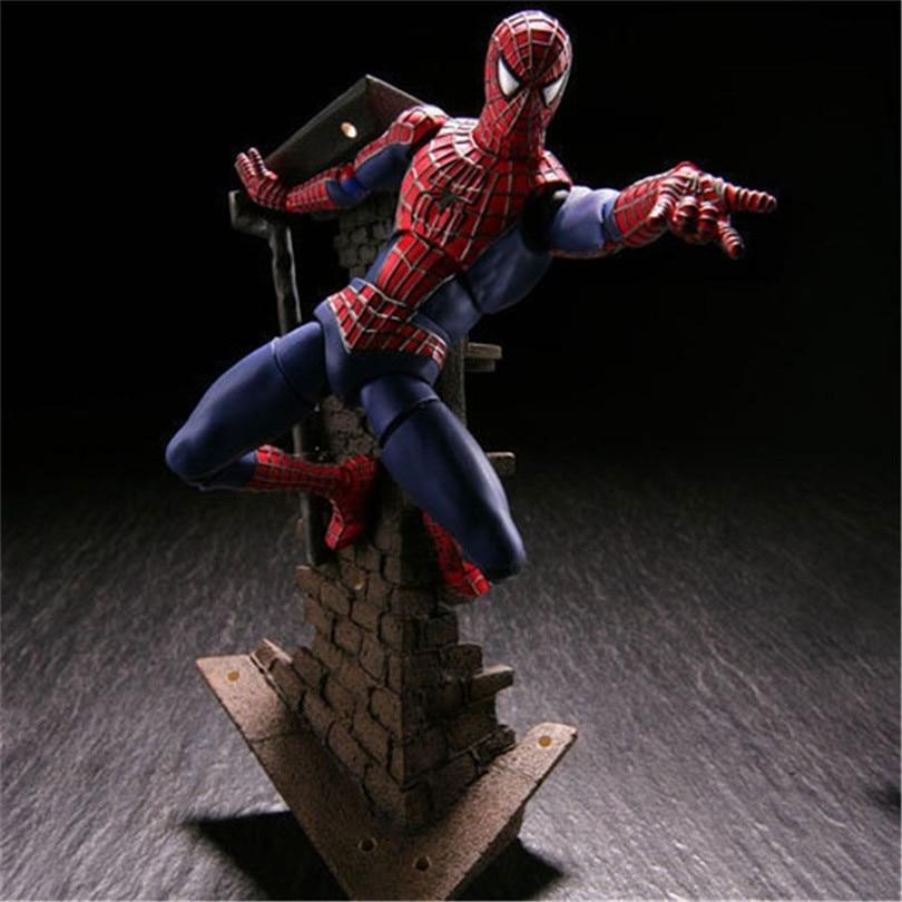 где купить  Spiderman Toys Super hero The Amazing Spider-man PVC Action Figure Collectible Model Toy 13cm  дешево
