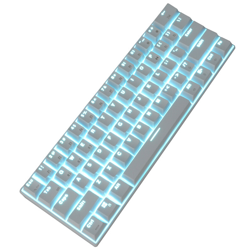 Mini Bluetooth Wireless Backlight Gaming Mechanical Keyboard Blue/Black/Red/Brown Switch USB Game Keyboard For PC Laptop motorspeed bluetooth usb wired mechanical keyboard 87 keys real rgb backlight blue switch for laptop desktop for gamer computer