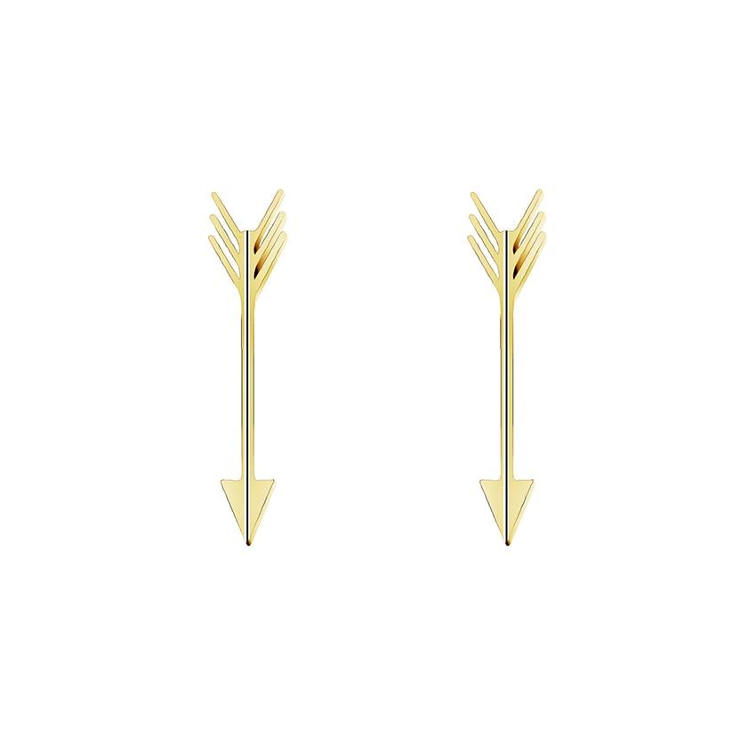 Չժանգոտվող պողպատից Cupids Arrow Stud Ականջօղեր Նորաձևության զարդեր 2019 ոսկե արծաթագույն գույն երկրաչափական ականջօղեր կանանց համար Boucle D'oreille