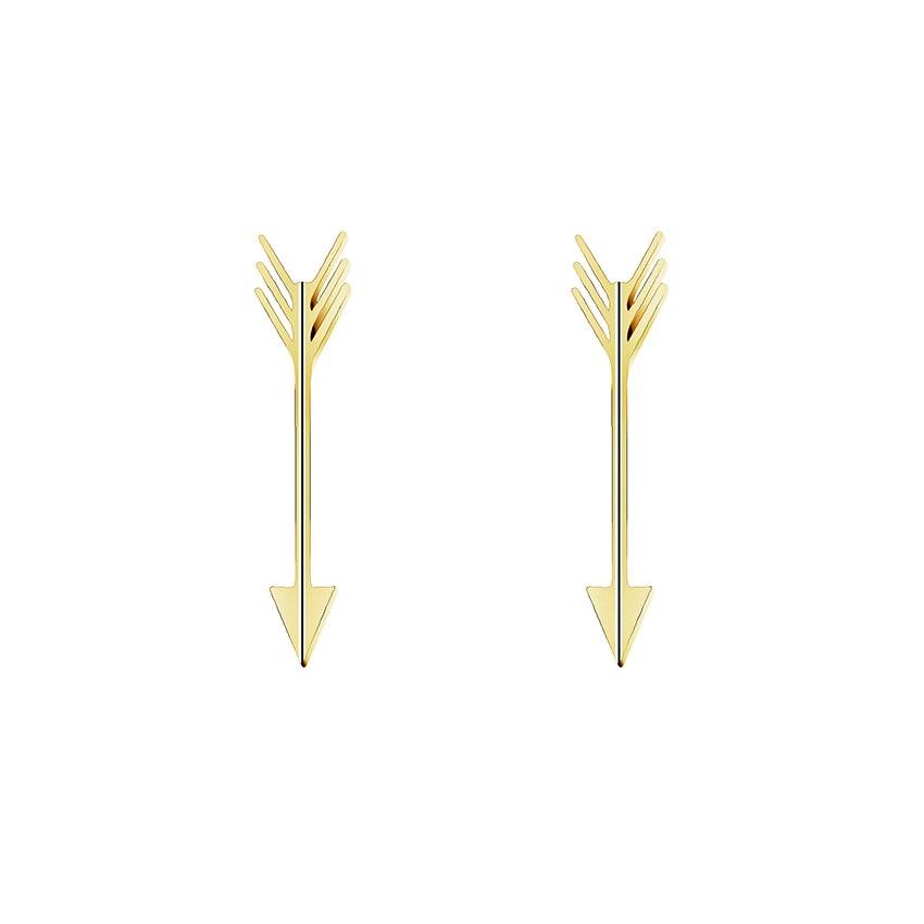 Kupidi iz nerjavečega jekla Arrow Stud uhani Modni nakit 2019 Zlato Srebrna Barva Geometrični uhani za ženske Boucle D'oreille