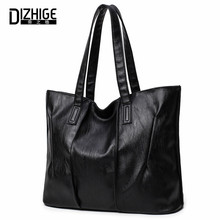 DIZHIGE Brand PU Leather Bags Handbags Women Famous Big Capacity Shoulder Bags Simple Ladies Hand Bags New Black Women Bag 2017