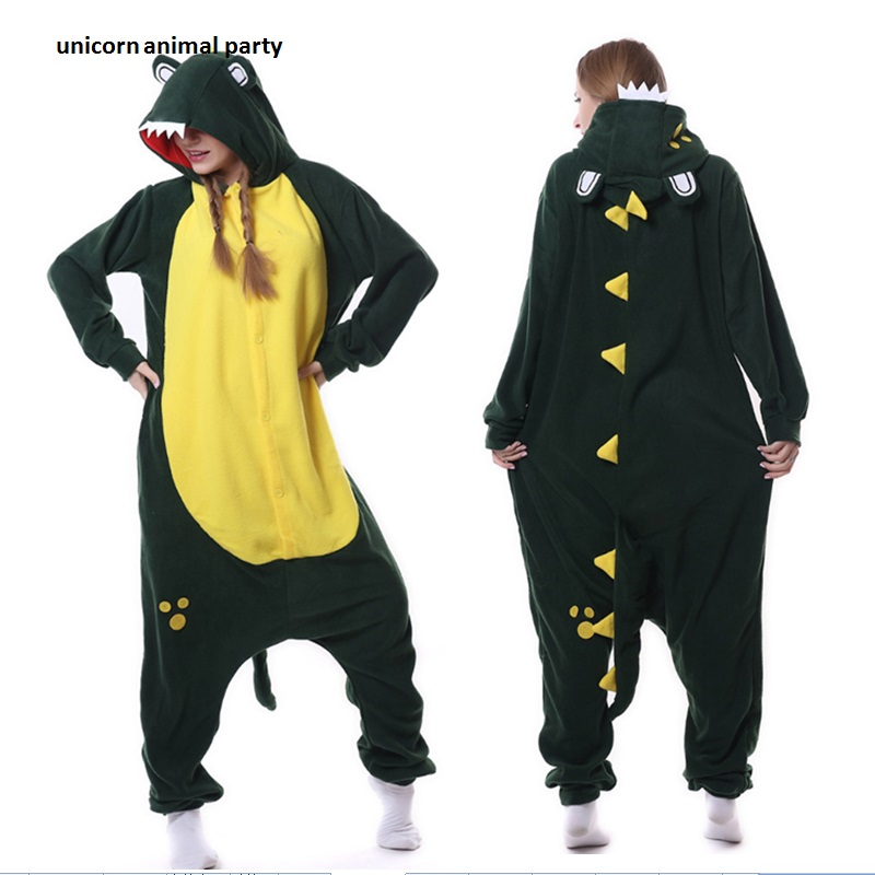 Halloween Pyjamas Autumn Anime Unisex Adult Sleepwear Crocodile Onesies Pajamas Cosplay Costume Carnival Masquerade Party