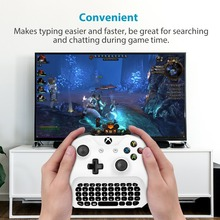 2.4G  Wireless Keyboard Mini Chat Message 47keys White Keypad for Microsoft XBOX ONE Slim Video Game Controller