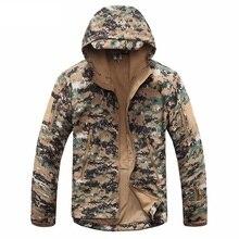 Новая цифровая камуфляжная тактическая Экипировка Военная армейская куртка мужская флисовая водонепроницаемая охотничья одежда зимняя спортивная уличная куртка