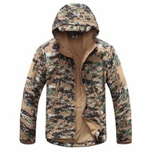 New Digital Camouflage Tactical Gear Military Army Jacket Men Softshell Waterproof Hunting Clothes Winter Sport Outdoor Jackets(China)