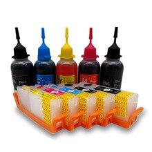 PGI-570 CLI-571 набор для наполнения чернил для принтера Canon TS5050 TS5051 TS5053 TS5055 TS6050 TS6051 TS6052 принтер 5 цветов PGBK BK C M Y