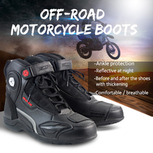 Motorcycle Boots Botas Moto Motociclista Motocross Shoes Motorbike Motoqueiro Off Road Equipement Boots Men MT015 2 Color SCOYCO