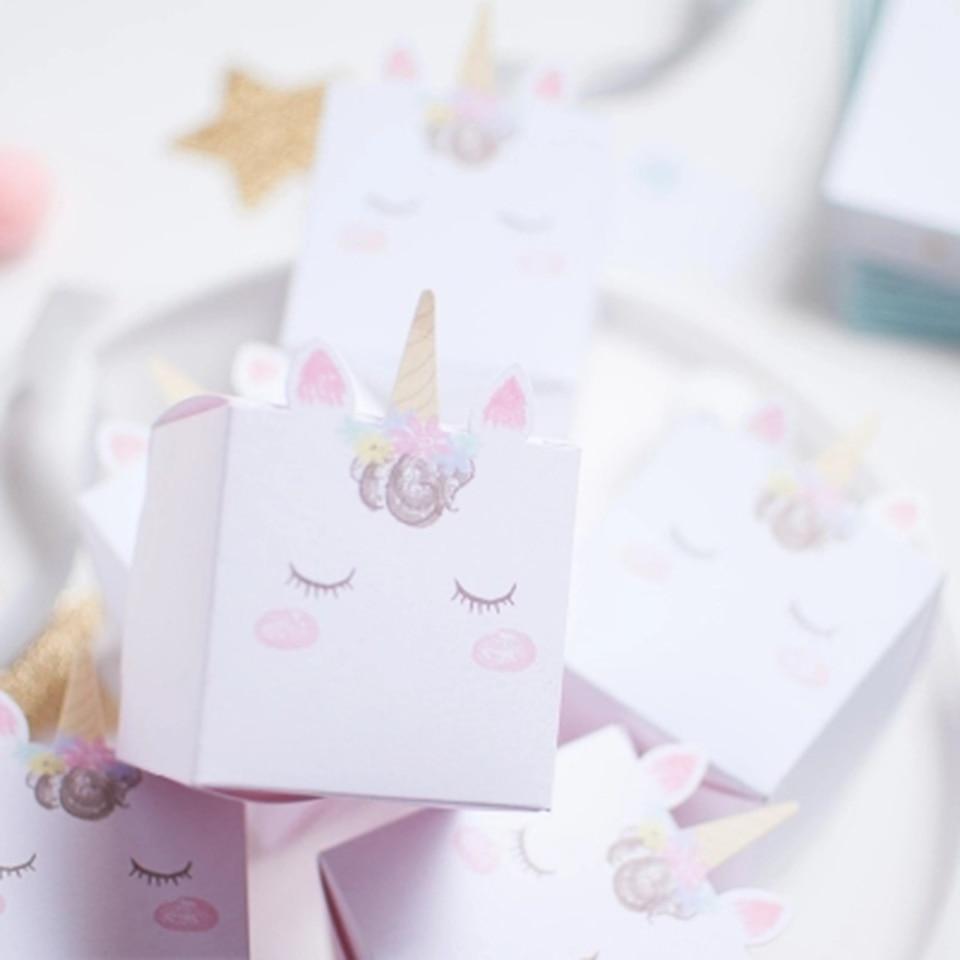 Tronzo DIY Unicorn Candy Box Wedding Favors And Gifts Unicorn Party ...