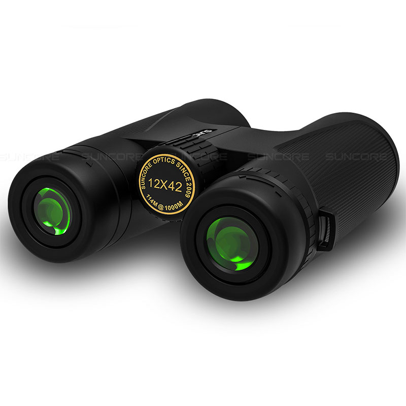 Hiking Multi Green Portable Coating High HD Outdoor Power Camping Layer Binoculars Telescope 12x42