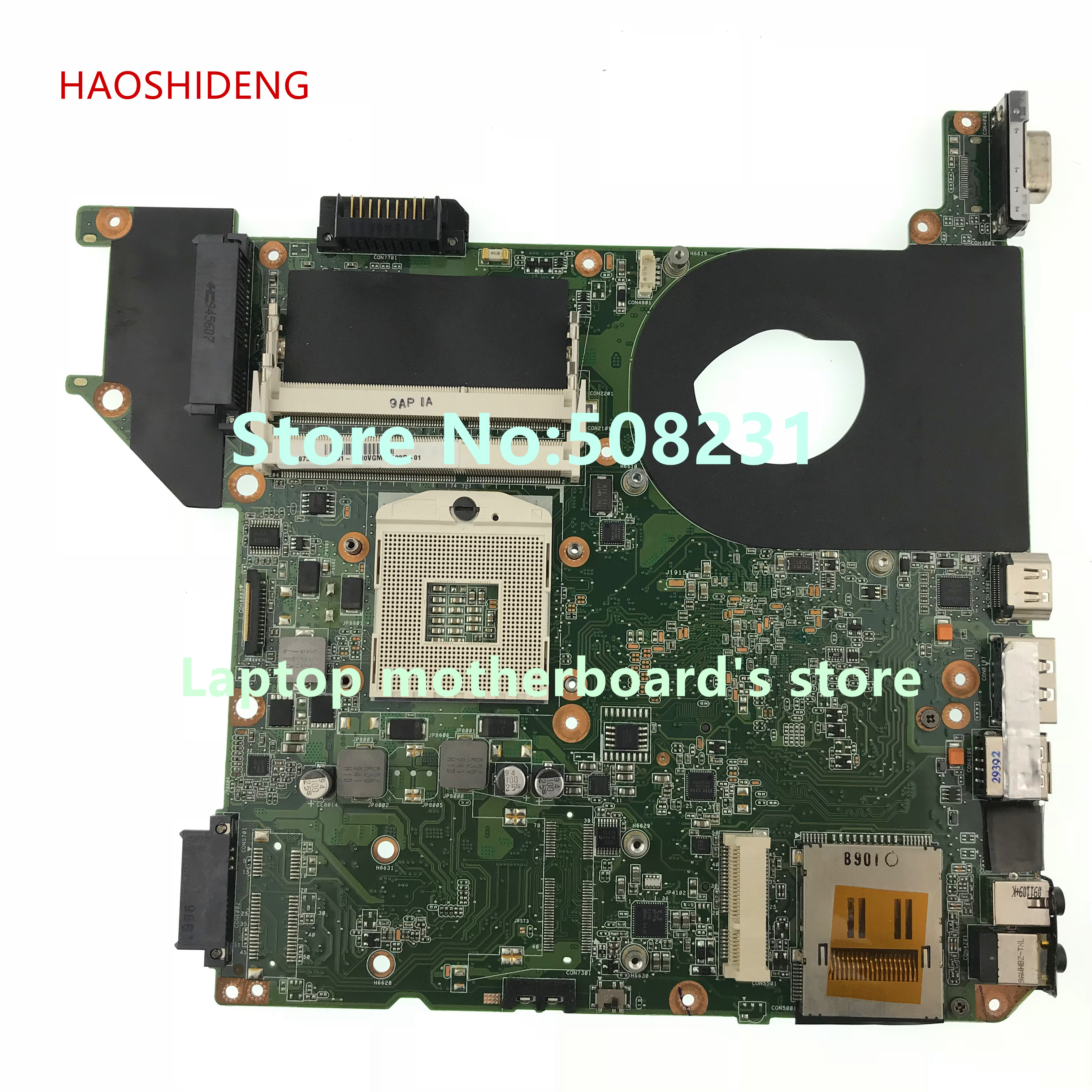 HAOSHIDENG H000023130 mainboard for Toshiba Satellite U500 U505 laptop motherboard All functions fully Tested free shipping for toshiba satellite p700 p740 p745 laptop motherboard k000123400 la 7101p all functions 100% fully tested