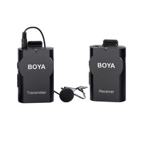 BOYA BY WM4 wireless Collar clip microphone Omnidirectional lavalier Transmitter in Receiver 2.4GHz GFSK Super anti interference