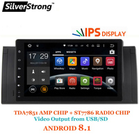 SilverStrong Новый ips ANDROID 8,1 игрок автомобиля Android для BMW E53 X5 E39 M5 1DIN радио Rockchip PX30 Процессор с RDS DAB вариант