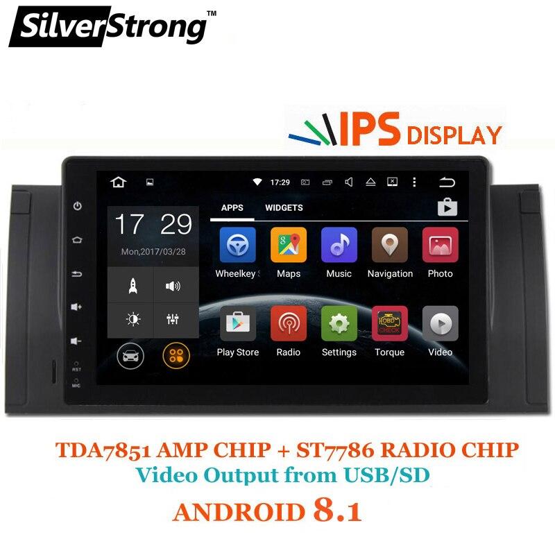 SilverStrong NUOVO IPS ANDROID 8.1 Auto Lettore Android per BMW E53 X5 E39 M5 1DIN Radio Rockchip PX30 CPU Con RDS Opzione DAB