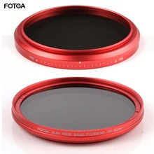 FOTGA 58mm ND Filters Camera Slim Fader ND(W) Red Ring Filter Variable Adjustable ND2 ND8 to ND400